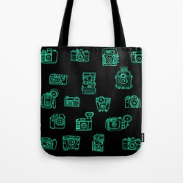 Cameras: Teal - pop art illustration Tote Bag
