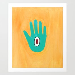 Bold And Brash Hamsa Evil Eye Art Print