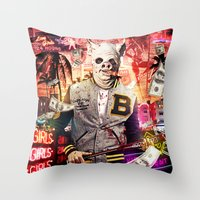hotline miami Throw Pillows featuring Night Out: Hotline Miami by GiancarloVargas