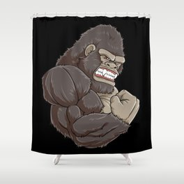 Gorilla At The Gym | Fitness Training Muscles Shower Curtain