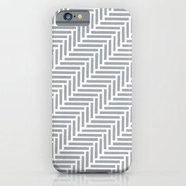 Herringbone 45 Grey iPhone Case