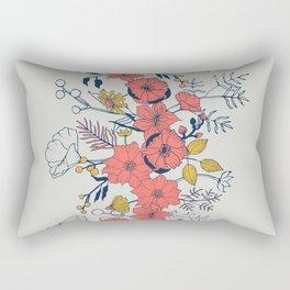 Coral Blooms verticals Rectangular Pillow