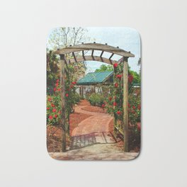 Rose Garden Entrance Bath Mat