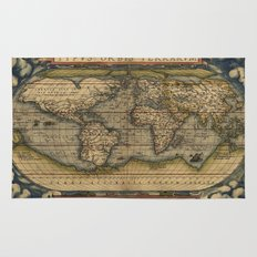 Antique Map of North and South America Rug