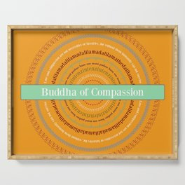 Buddha of Compassion Serving Tray