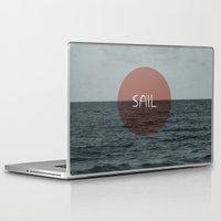 sail Laptop & iPad Skins featuring Sail by Carla Talabá