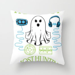 Funny Halloween Spooky Ghost Hunting Specter Hunter Shirt Throw Pillow