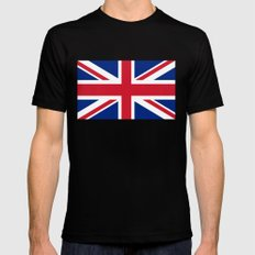 Union Jack Authentic color and scale 3:5 Version  MEDIUM Black Mens Fitted Tee