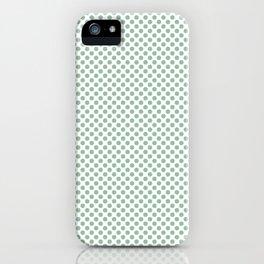 Grayed Jade Polka Dots iPhone Case