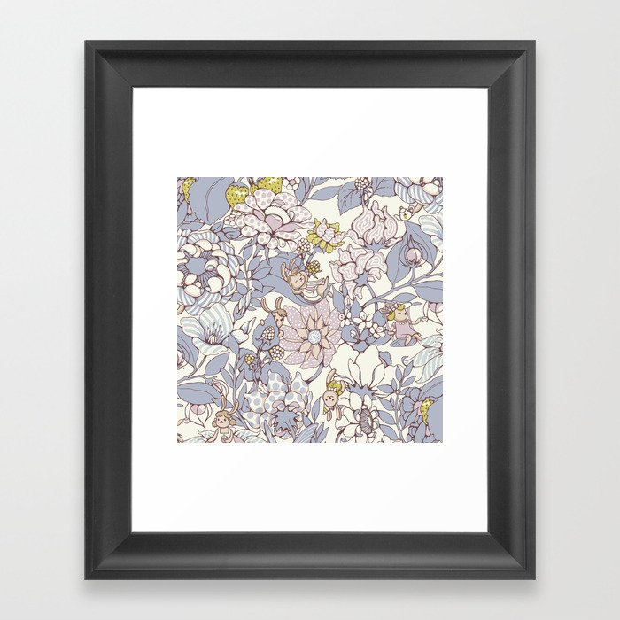 Garden party - jasmine tea version Framed Art Print