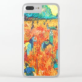 Van Gogh Red Vineyards at Arles Clear iPhone Case