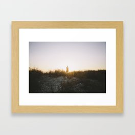 Angels National Forest, sunset no.7 Framed Art Print