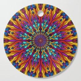 Amazing colors 3D mandala Cutting Board