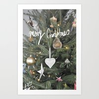 christmas tree Art Prints featuring Christmas Tree by Tamsin Lucie