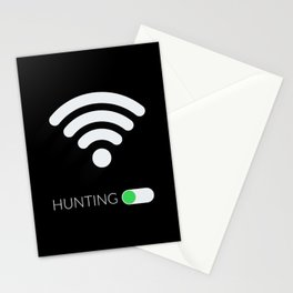 Wifi Hunting Stationery Cards