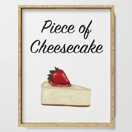 Piece of Cheesecake Serving Tray