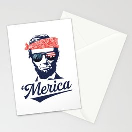 Merica Abraham Lincoln Stationery Cards