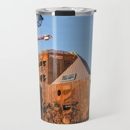 Lille architecture blue sky Travel Mug