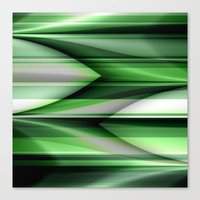 green pattern Canvas Prints featuring Pattern green by Christine baessler