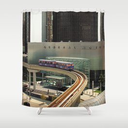GM Detroit Shower Curtain