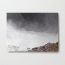 Mist Rising From the Rapids, Churning Water, Fast Moving River Metal Print