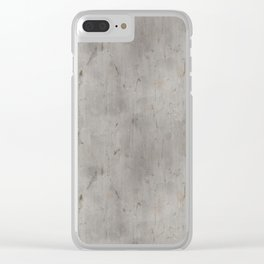 Dirty Bare Concrete Clear iPhone Case