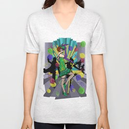 Speakeasy Riddler  Unisex V-Neck