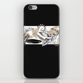 Black and Tan Foliage iPhone Skin