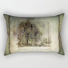 Storms Make Trees Take Deeper Roots Rectangular Pillow