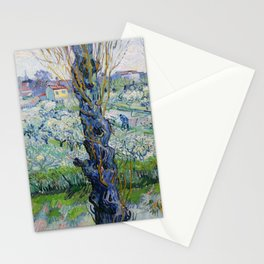 """Vincent Van Gogh """"View of Arles, Flowering Orchards"""" Stationery Cards"""
