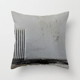 LOST PLACES - pissing radiator Throw Pillow