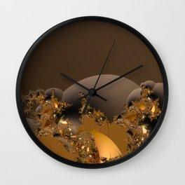 Golden Taste of Chocolates Wall Clock