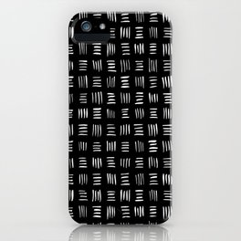 Lines on Lines // white iPhone Case