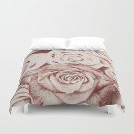 Latte roses Duvet Cover