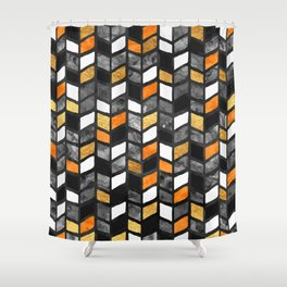 Fall Herringbone Shower Curtain