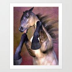 Angry Horse Art Print