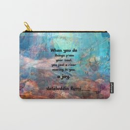 Rumi Inspirational JOY Quotation With Underwater Ocean Scene Carry-All Pouch