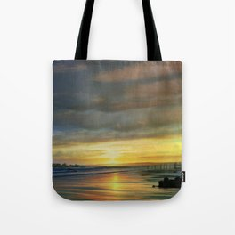 Captivating Sunset Over The Harbor Tote Bag