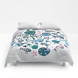 Marine doodles Comforters