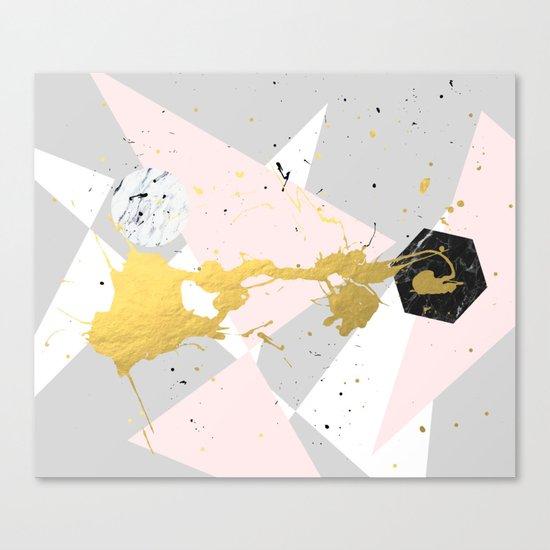 Gold Splatter #society6 #decor #buyart Canvas Print