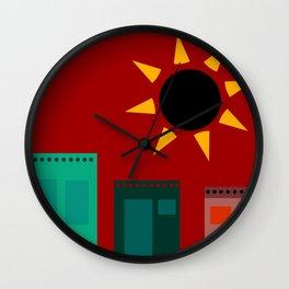 """Pequeño Pueblo (della serie """"La Teoria del Colore"""") Wall Clock"""