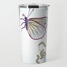 happy cabbage butterfly Travel Mug
