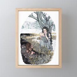 The ash tree sign Framed Mini Art Print