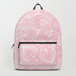 Elegant white mandala design Backpack