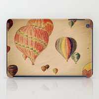 hot air balloons iPad Cases featuring Hot Air Balloons by AdrienneW