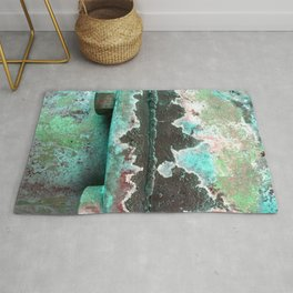 Bolted Down Turquoise Rug