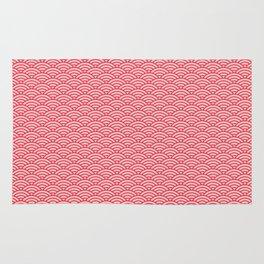 Japanese Sakura Koinobori Fish Scale Pattern Rug