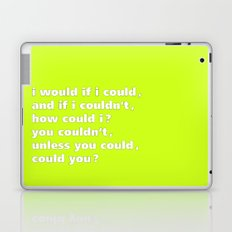 i would if i could - Tongue Twisters Laptop & iPad Skin