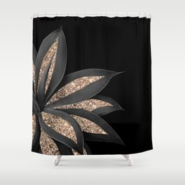 Agave Finesse Glitter Glam #8 #tropical #decor #art #society6 Shower Curtain