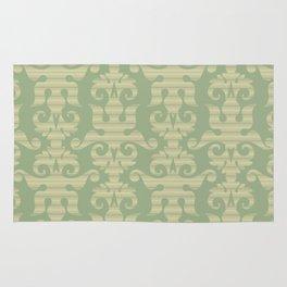 Pattern - Green Chevron Desmask Rug